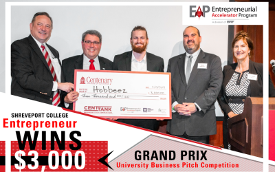 EAP adds Centenary College to its Grand Prix university business pitch competitions. Winners announced.